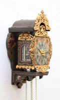 Dutch-miniature-Frisian-striking-wall Clock-antique-stoelschippertje-circa 1780