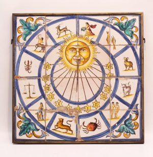 A South European Polychrome Fayence Sundial, Circa 1750