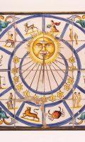 Antique Clock Portugese Fayence Sundial