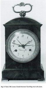 Frans pendule d'officier verguld brons reisklok antieke klok