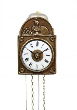 A Minature German 'Sorg' Alarm Wall Timepiece, Circa 1840