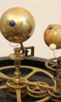 Antique Clock French Mantel Orrery Marble