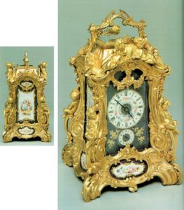 antique clock rococo travel carriage clock