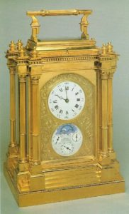 French giant travel carriage clock antique clock