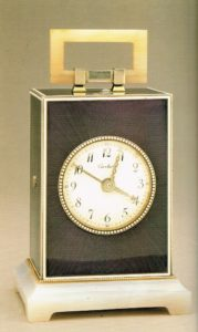 art deco tiffany travel clock