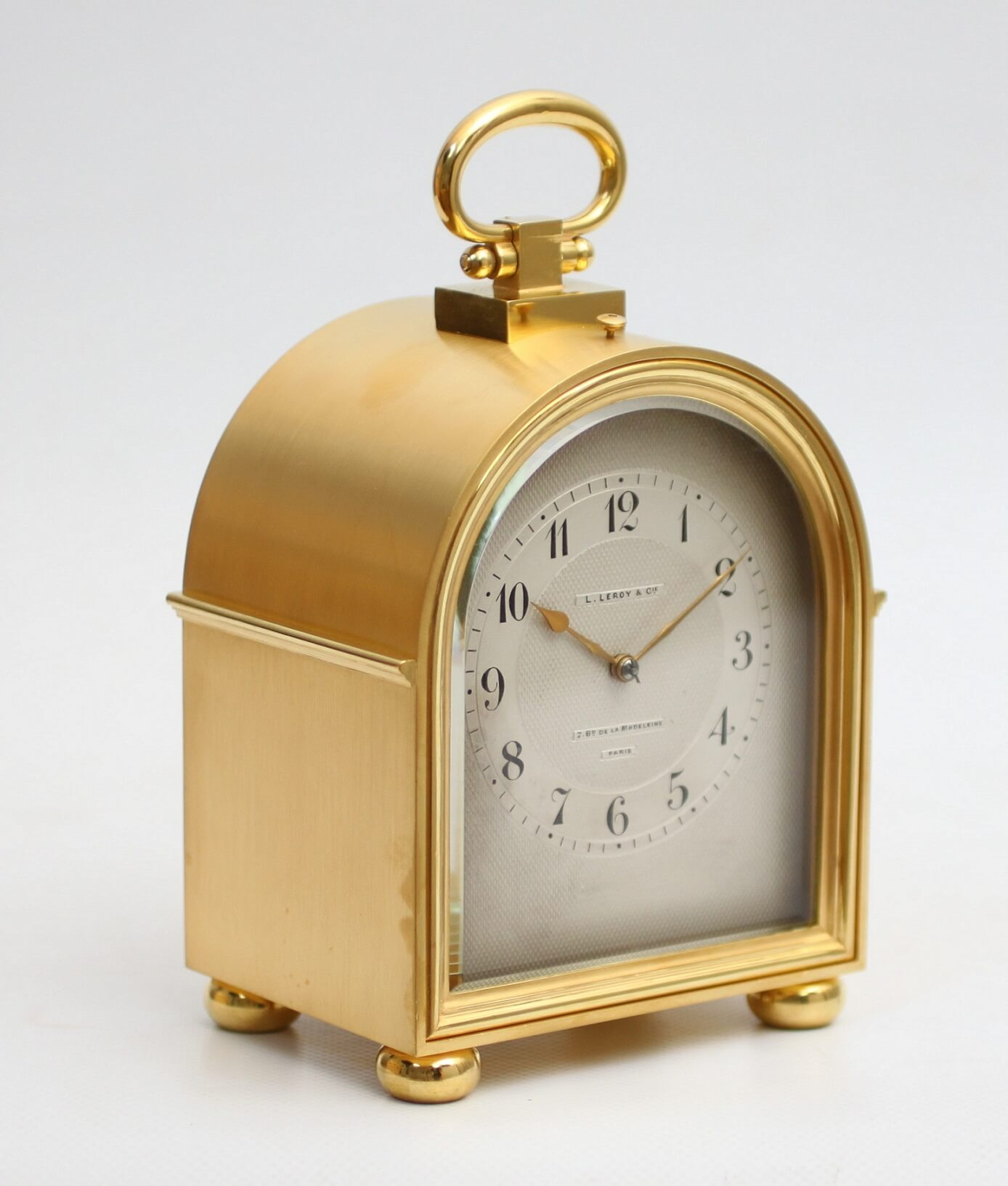 French Antique Clock Carriage Clock Humback Leroy Gilt Brass Striking