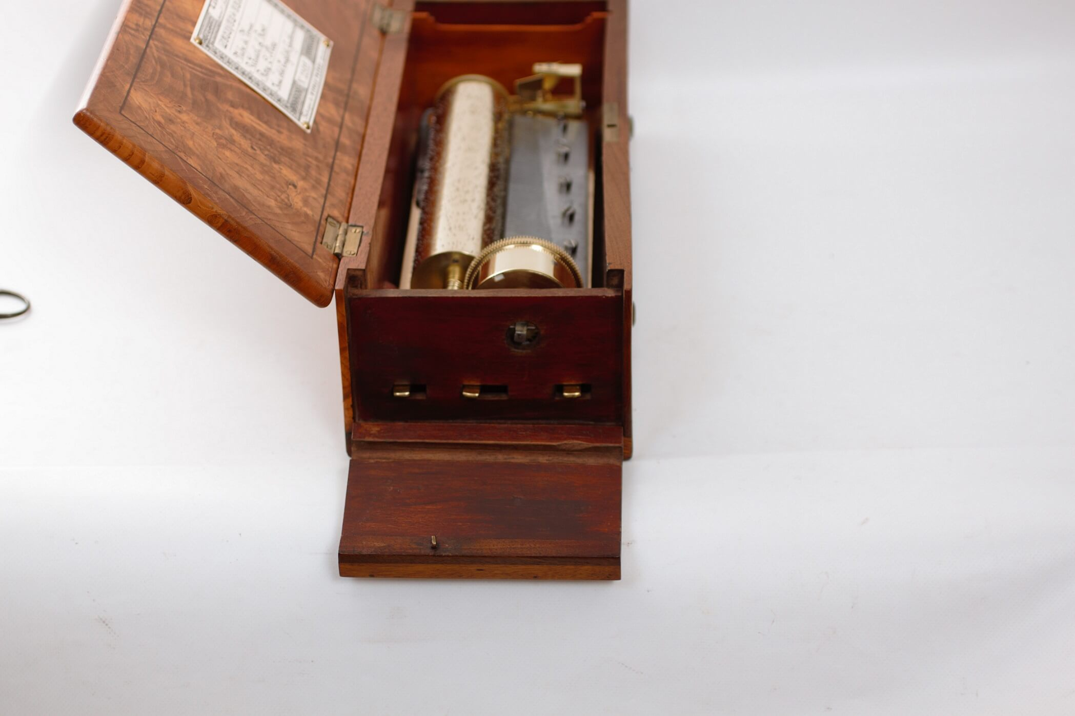 Swiss cylinder music box antique Nicole Frères musical