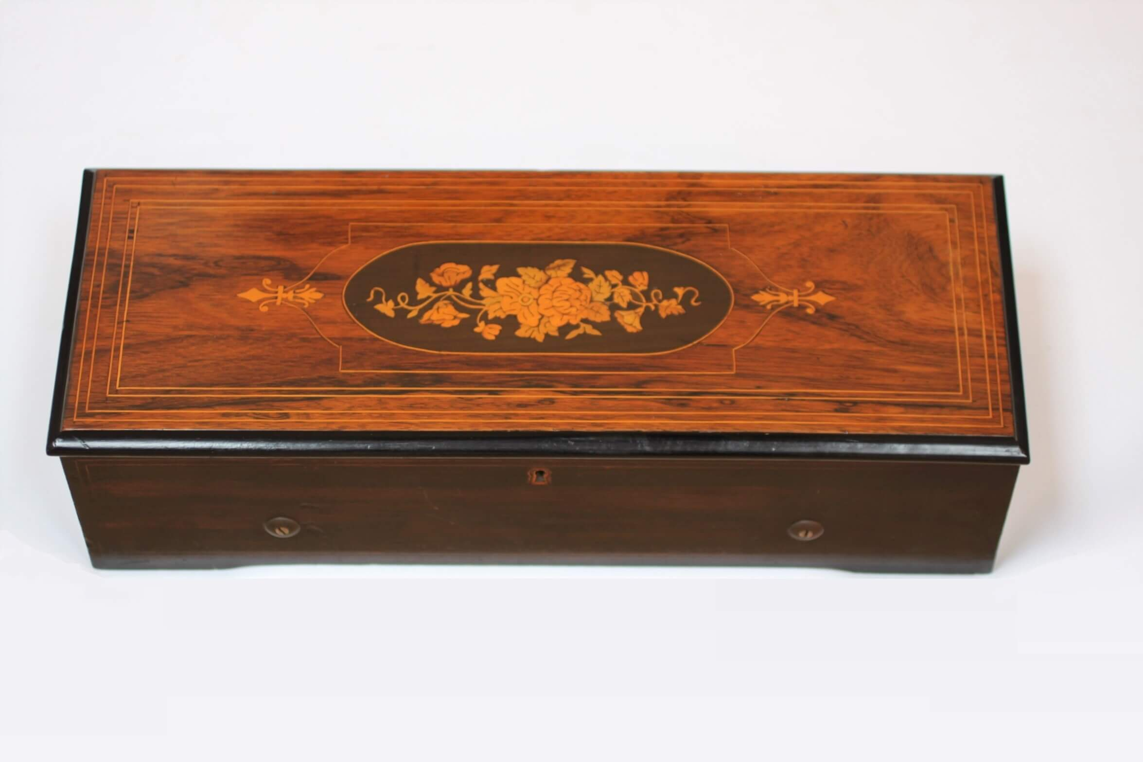 Swiss Rosewood Cylinder Music Box Nicole Frères Circa 1860