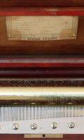 Swiss Rosewood Cylinder Music Box Nicole Frères Circa 1860