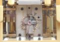 French Travel Carriage Clock Calendar Brass Gilt Silvered