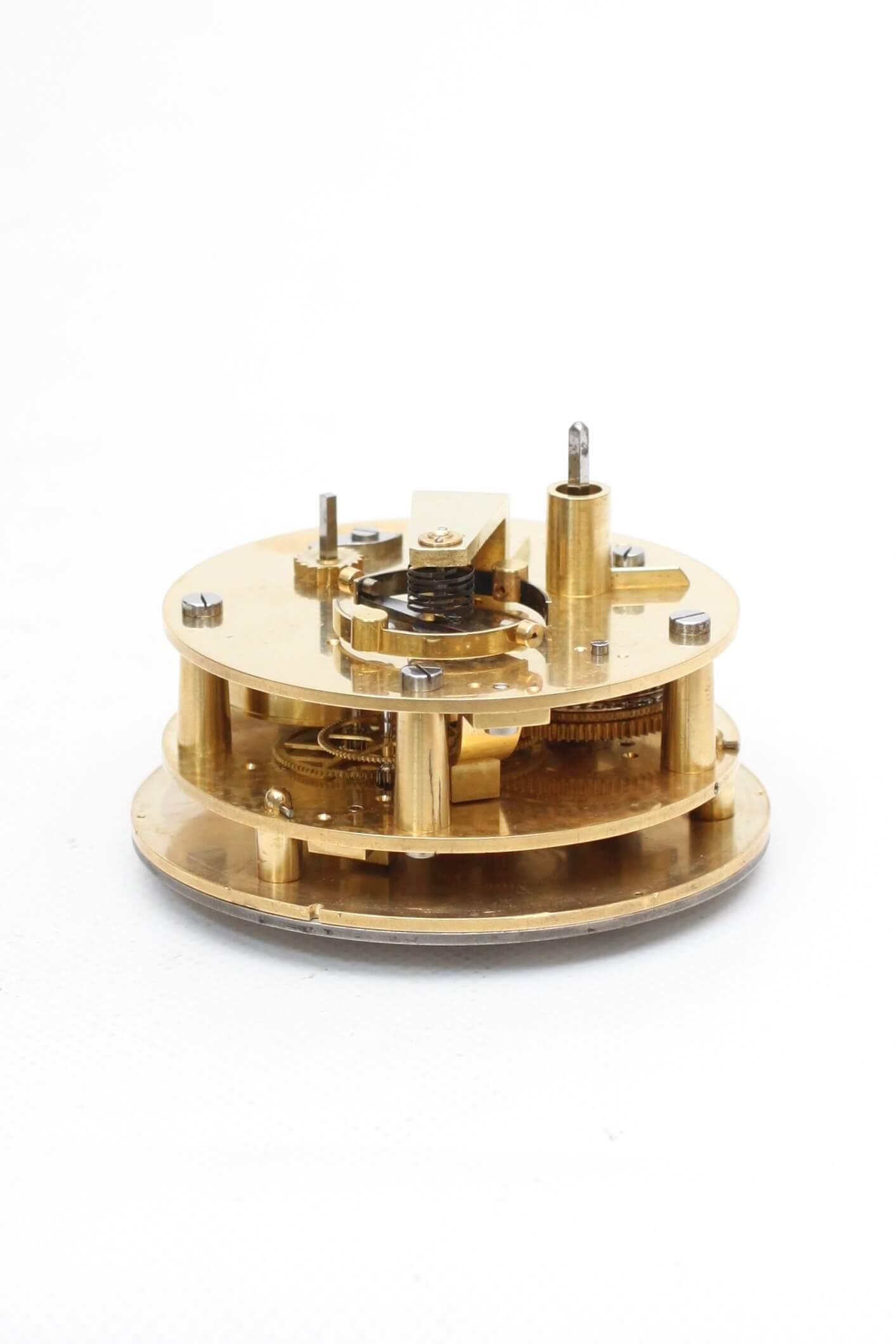 French-antique Clock-mahogany-chronometer-ship-Dumas-1855