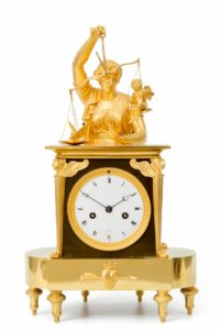 Empire French ormolu bronze amor cupido antique clock