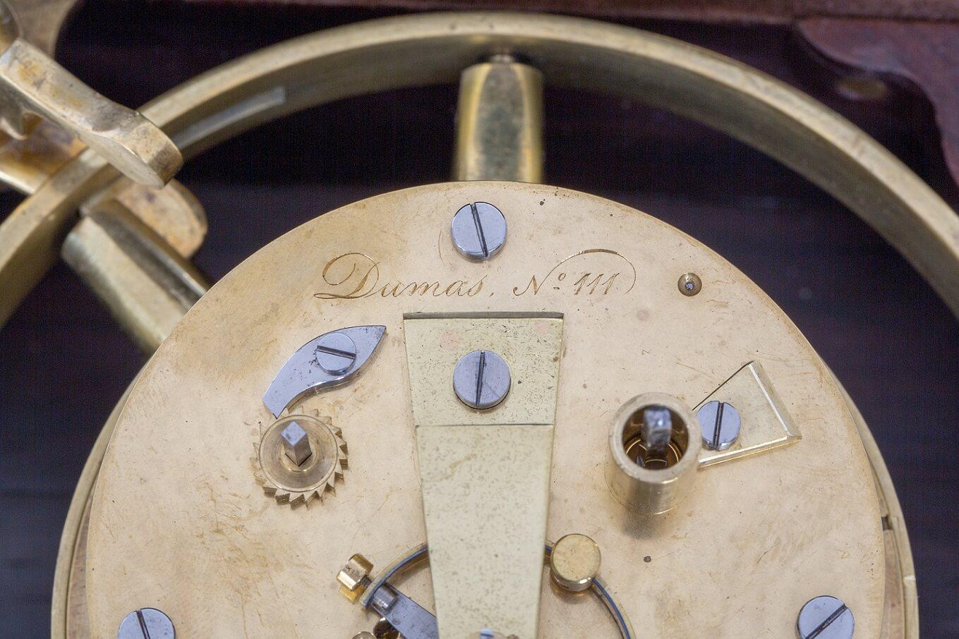 French-chronometer-navigation-precision-rosewood-Dumas-onesime-Paris-st Nicholas-antique-clock