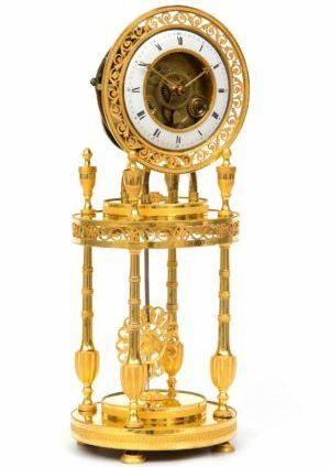 A French Directoire Ormolu Mantel Clock, Circa 1800