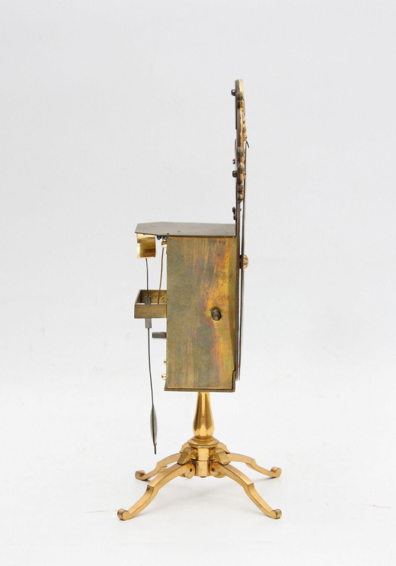 Swiss-night Clock-antique Clock-Basel-brass-Regence-J.J. Zeller