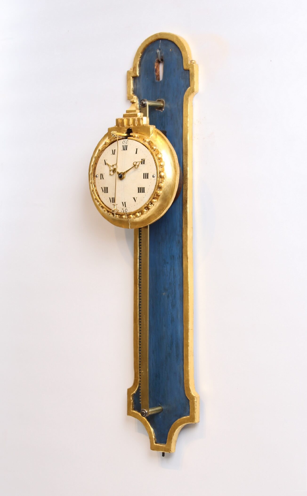 German-Swiss-Louis XVI-rack Clock-antique Clock-parcel Gilt-wood