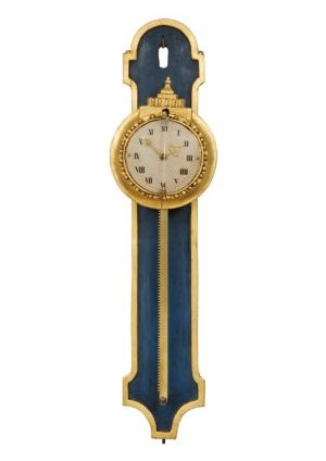 A South German Louis XVI Polychrome And Parcel Gilt Rack Wall Timepiece, Circa 1780
