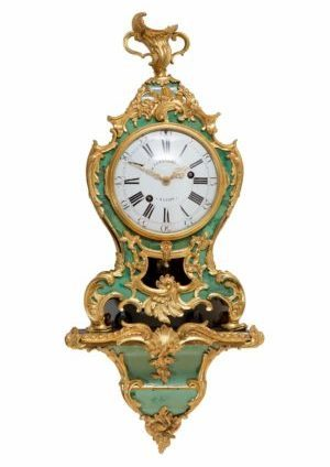 A Small French Louis XV Corne Verte Bracket Clock By Coutterez, Circa 1745
