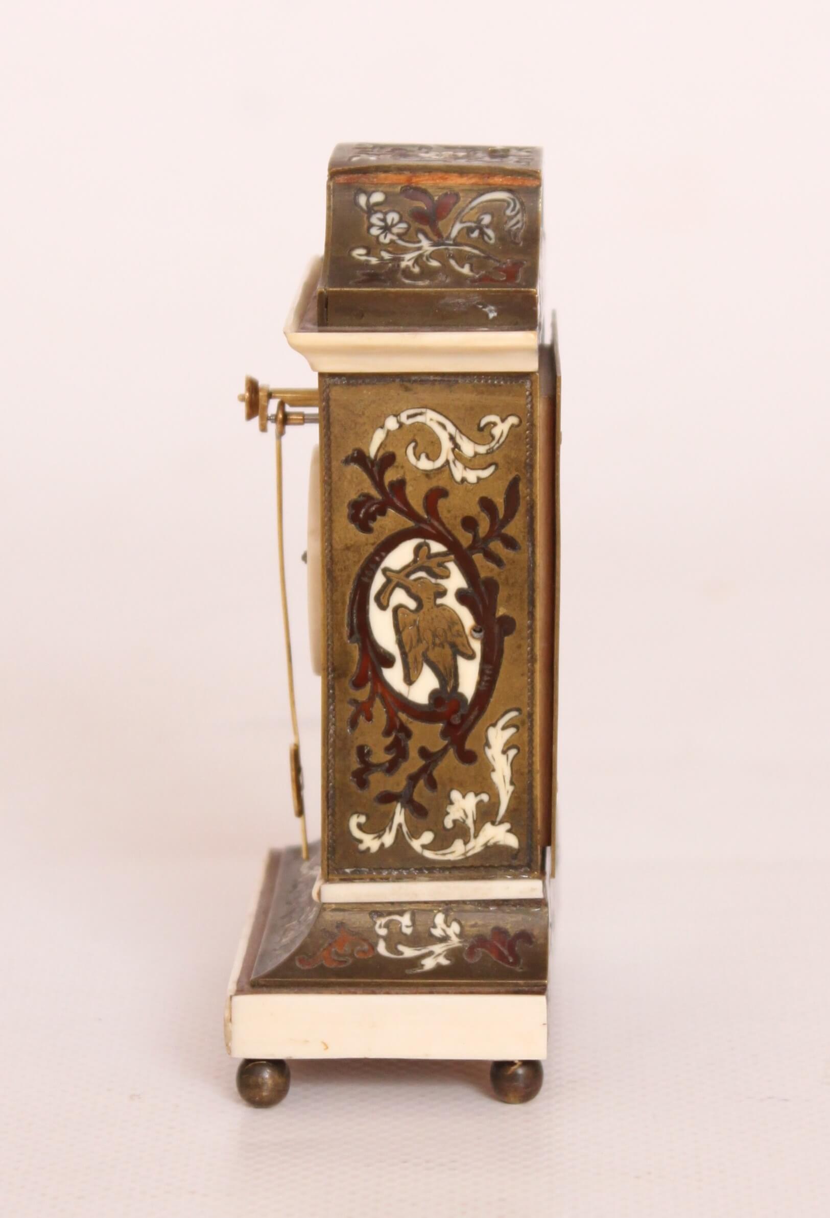 Austrian-Zappler-miniature-Boulle-ivory-clock