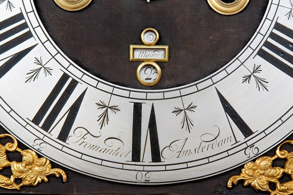 Dutch-baroque-walnut-antique-striking-alarm-calendar-longcase-grandfather-Fromanteel-Amsterdam-5