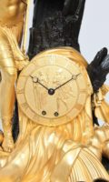 Antique Clock-Empire-French-ormolu-sculptural-striking-Jason-golden Fleece-lesieur