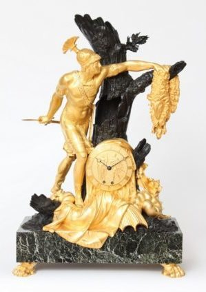Een Grote Franse Empire Bronzen Pendule, Jason En Het Gulden Vlies, Lesieur, Circa 1810