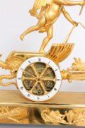 French-Empire-Chariot-mantel Clock-ormolu-Deverberie