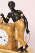 French-Empire-ormolu-bronze-bon Sauvage-matelot-antique Clock-mantel Clock