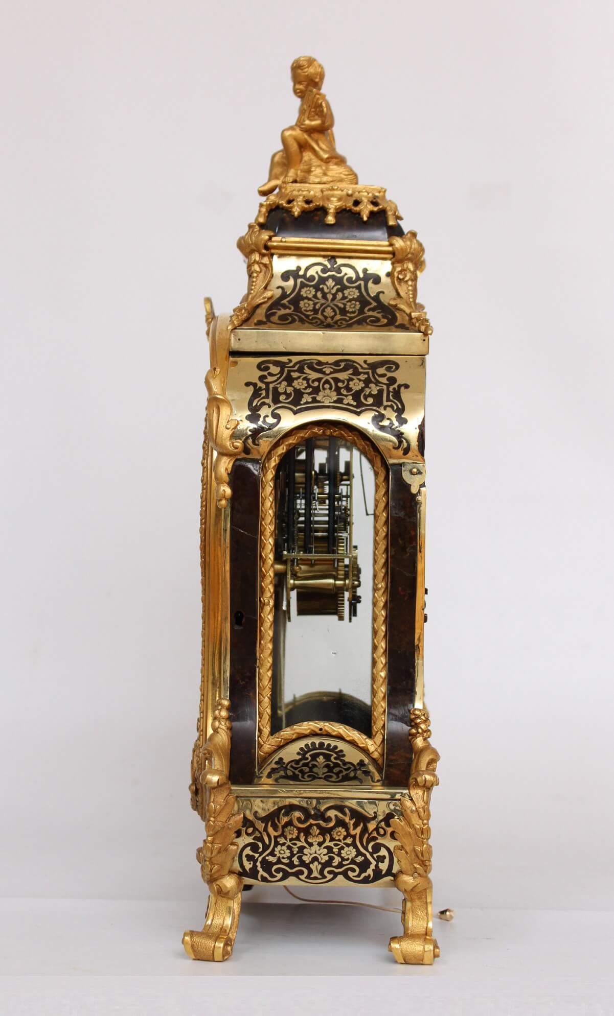 French-antique Clock-Regence-Boulle-Delorme-quarter Repeat-console-bracket Clock