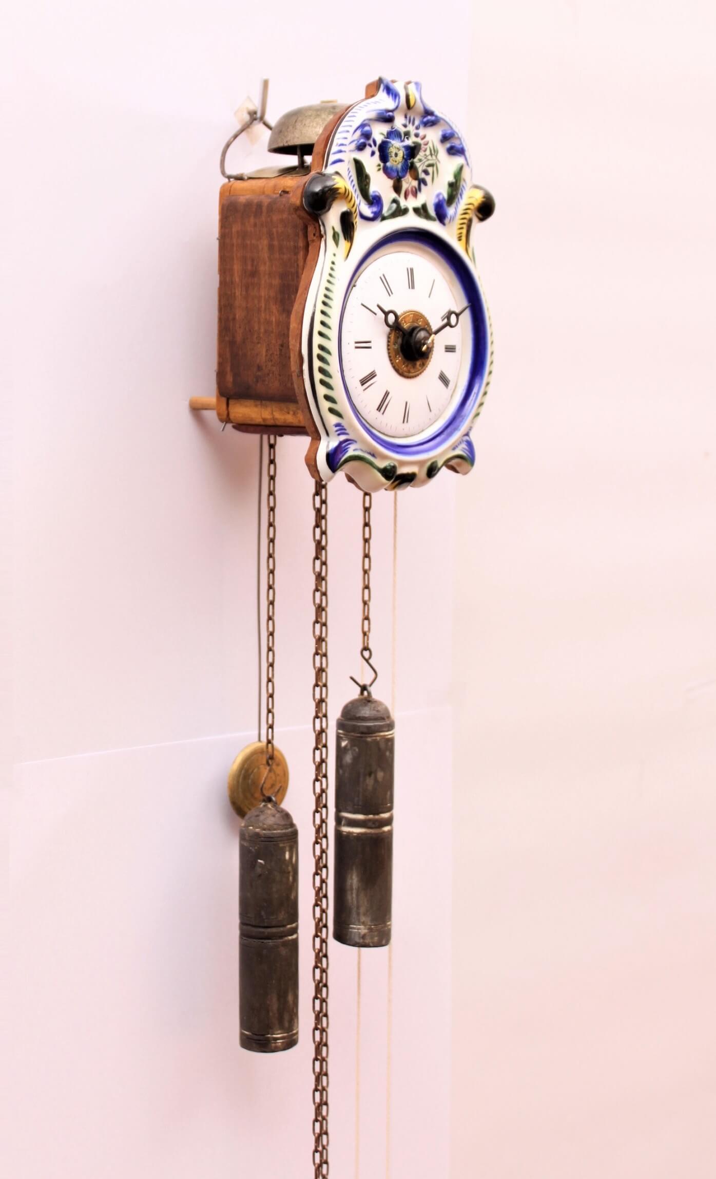 German-Black Forest-Jockele-striking-alarm-wall clock