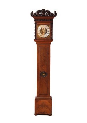 A Rare And Early Dutch Walnut Longcase Clock By Fromanteel Amsterdam, Circa 1690