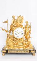 French-Louis XVI-ormolu-mantel Clock-Corsaires-Le Nepveu-circa 1770