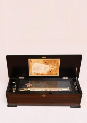 A Swiss Rosewood 'sublime Harmony Piccolo' Cylinder Music Box, Mermod Frères, Circa 1880