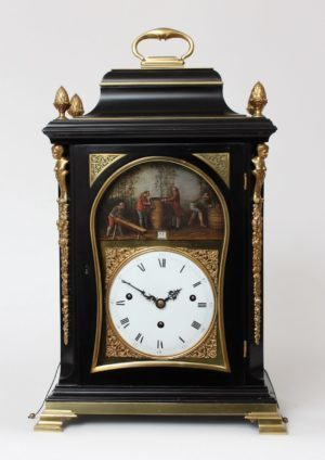 An English Quarter Chiming And Musical Table Clock With Automaton, Rimbault London, Circa 1780