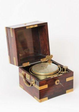 Een Zeldzame Engelse Palissander Chronometer Met 24-uurs Wijzerplaat, Molyneux London, Circa 1840