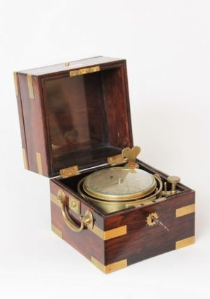 A Rare English 2-day Rosewood Chronometer With 24-hour Dial By Molyneux, Circa 1840