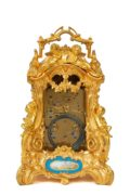 French-Drocourt-carriage Clock-rococo Case-antique Clock-Sevres-porcelain-gilt Bronze