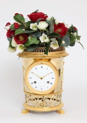 A French Empire Ormolu Urn Mantel Clock Angevin A Paris, Circa 1810