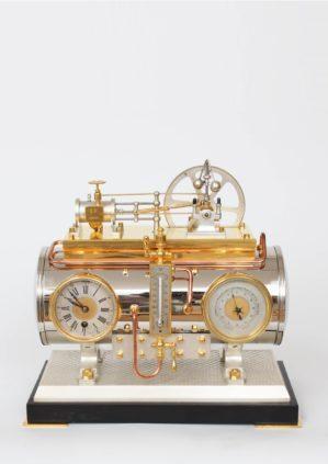 Een Franse Industriële Pendule, Stoomketel, Guilmet, Circa 1880.