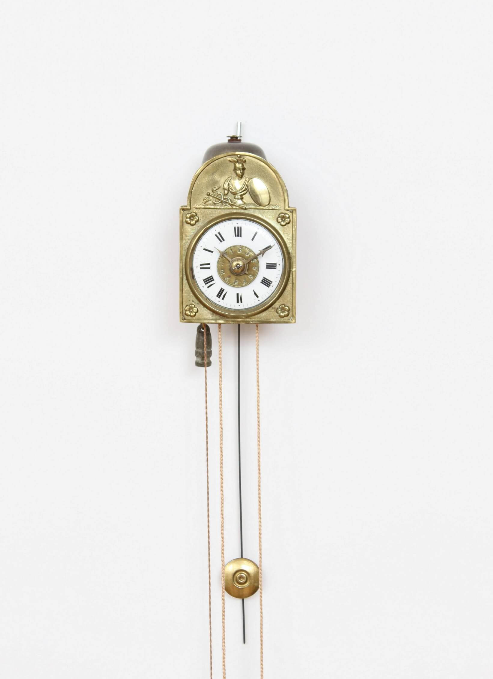 German-miniature-Sorg-antique-clock-alarm-brass-wood-black-forest