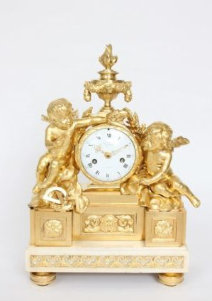 A Fine French Louis XVI Ormolu Sculptural Mantel Clock After Osmond, Viger Circa 1770