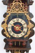 Dutch-Geldern-Gelderland-achterhoek-antique-wall-clock-spraekel-polychrome-iron-striking-alarm-provincial