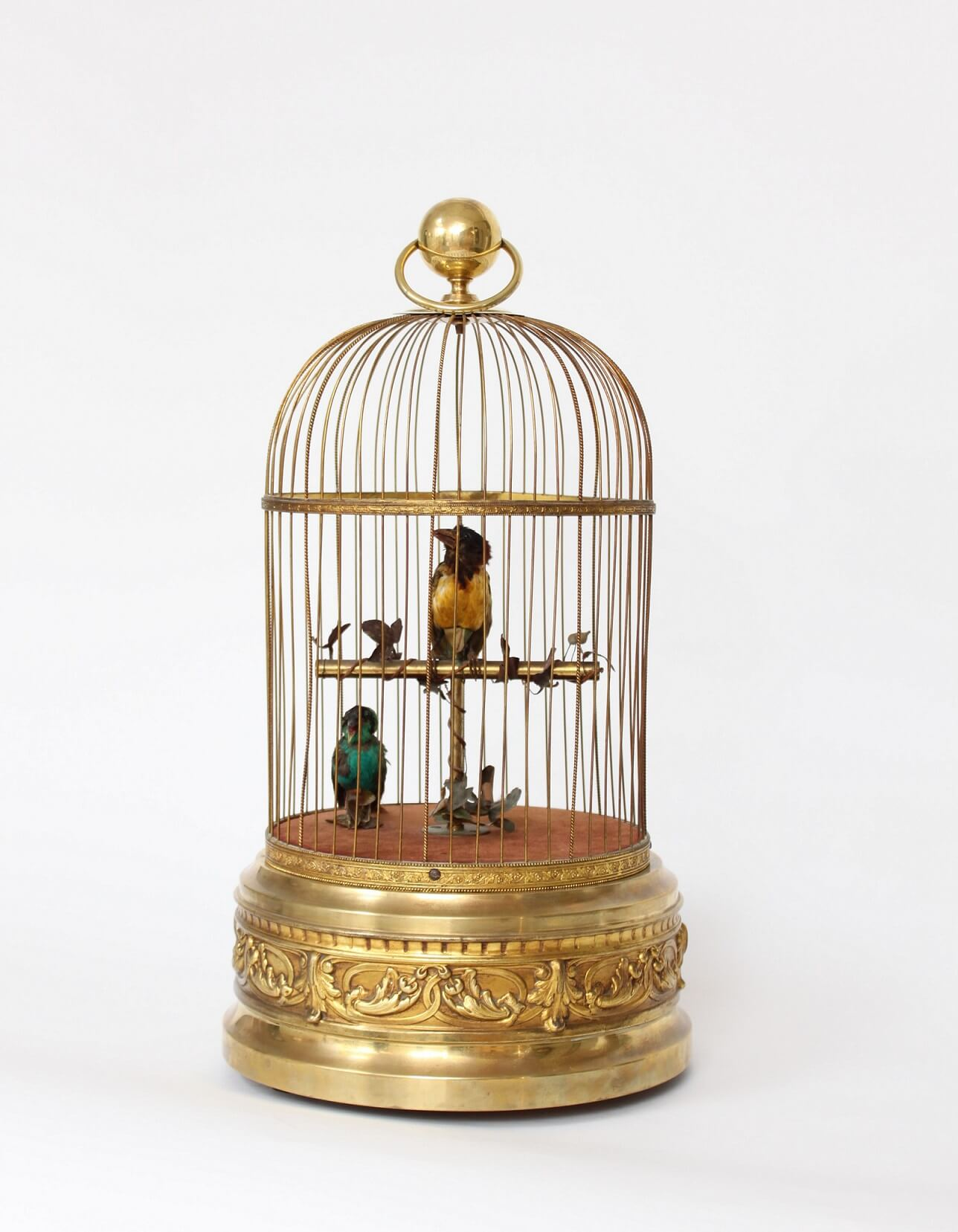 French-Bontems-automaton-animated-bird Cage-mechanism-