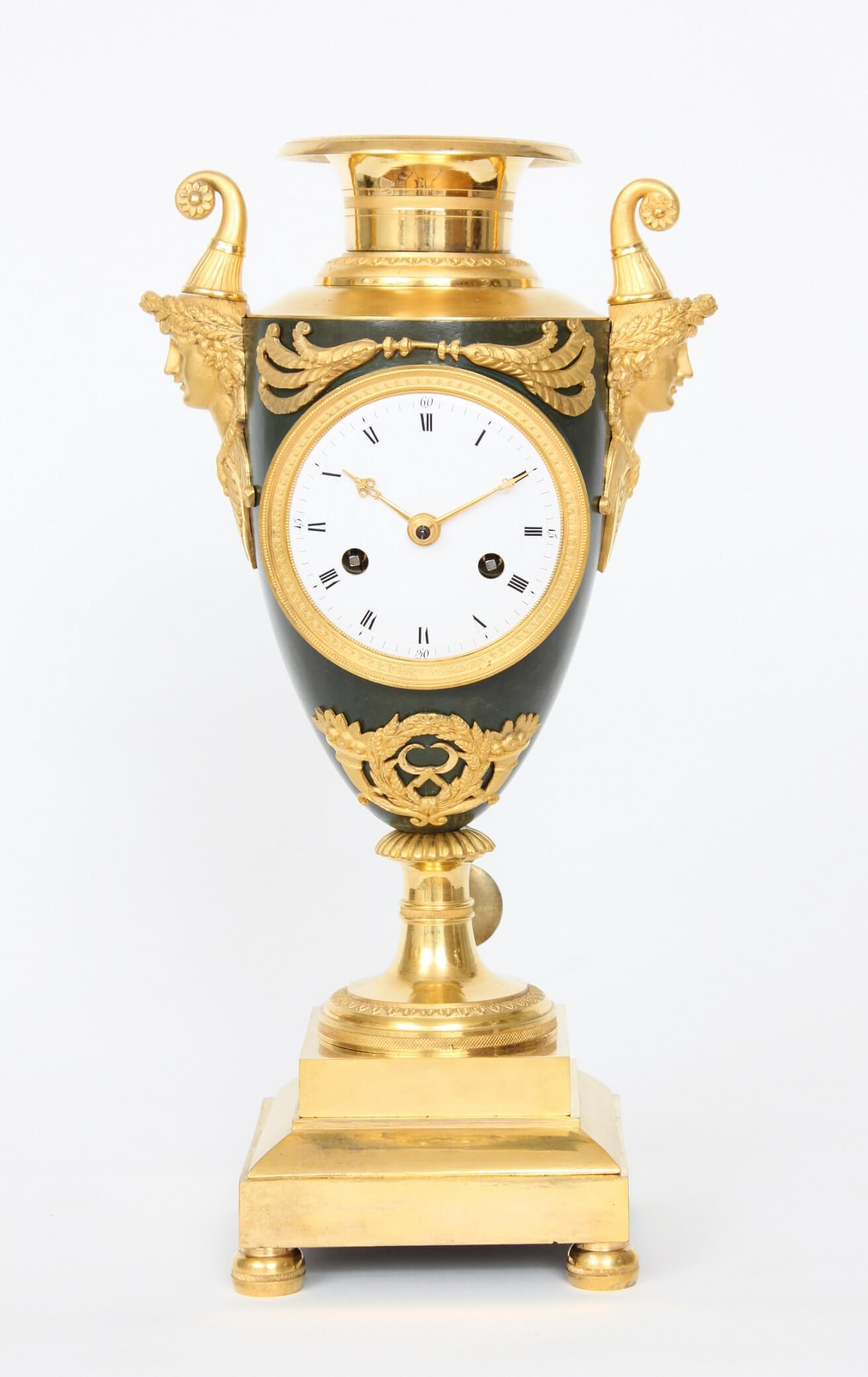French-Empire-ormolu-bronze-gilt-bronze-urn-mantel-antique-clock