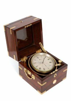 Een Fraaie Engelse Mahonie 8-daagse Chronometer, Edward Baker, Circa 1835