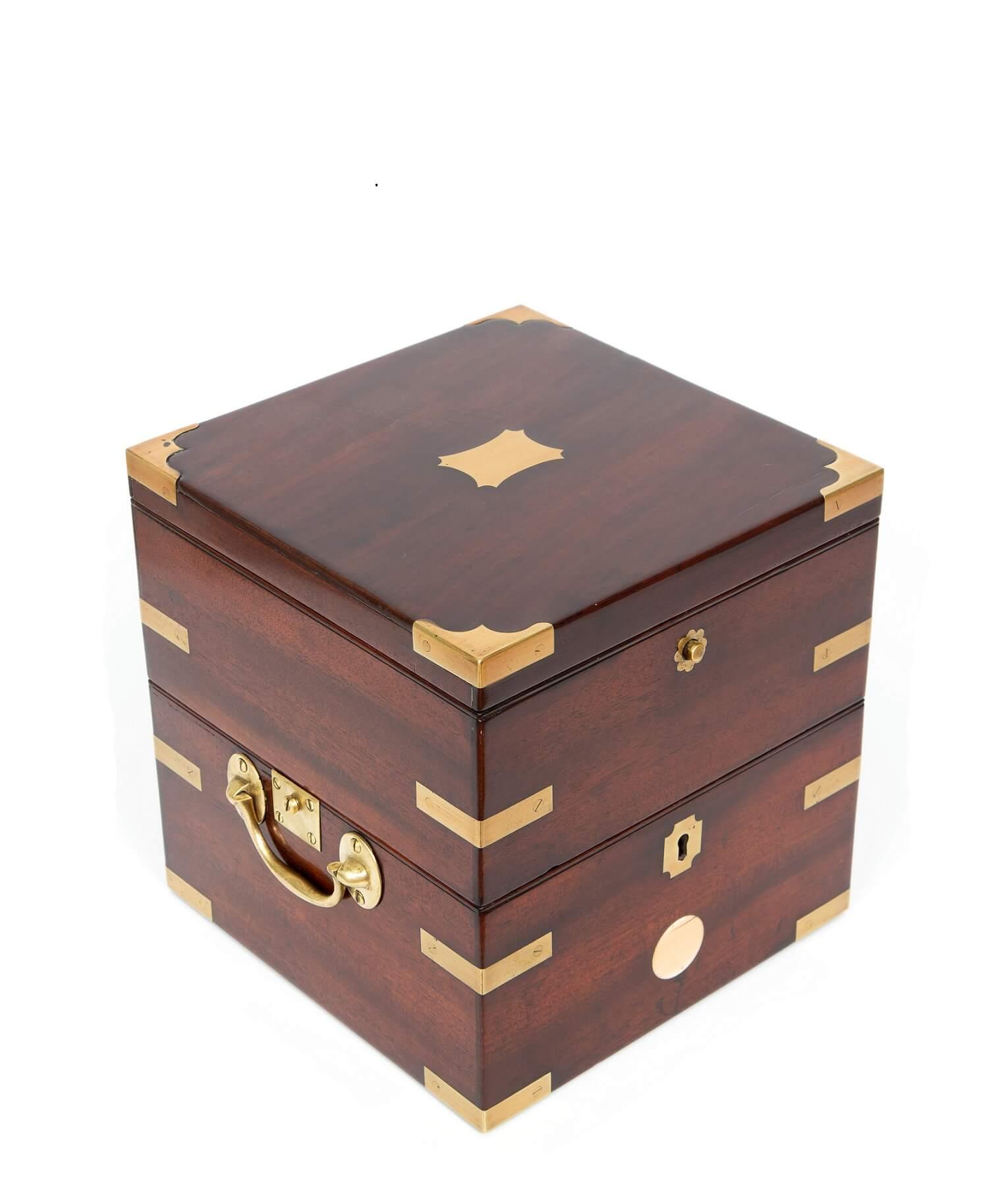 English-chronometer-8-day-London-antique-clock-mahogany-Edward Baker-