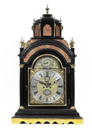A Rare And Impressive Dutch Musical And Quarter Chiming Bracket Clock, Andries Vermeulen, Circa 1730