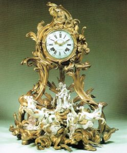 French-antique-clock-ormolu-Louis XV