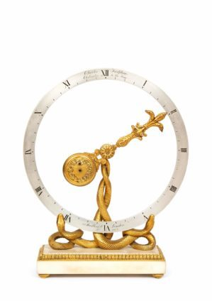 English-gilt-bronze-marble-antique-mystery-clock-frodsham-london-oscillator