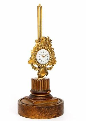 A French Gilt Bronze Rack Mantel Timepiece Mosbrucker A Saverne, Circa 1770